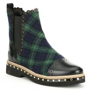 Free People Atlas plaid ankle boots